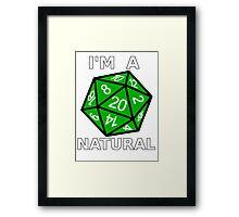 Natural 20 Framed Print