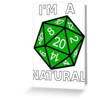 Natural 20 Greeting Card