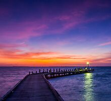 Light on the Jetty by KarenWillshaw