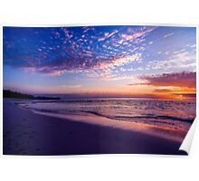 Sunset in Pastels Poster