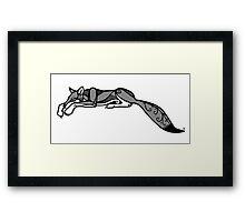 Sleeping Grey Wolf Framed Print