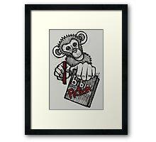 Monkey Bible Fiction Framed Print