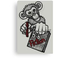 Monkey Bible Fiction Canvas Print