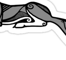 Sleeping Grey Wolf Sticker