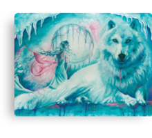 Wolf Dreaming Canvas Print
