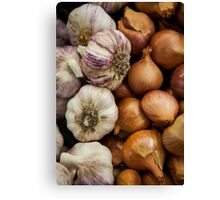 Garlic & Onions Canvas Print