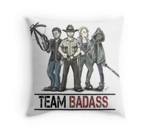 Team badass the walking dead Throw Pillow