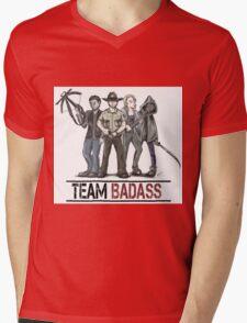 Team badass the walking dead Mens V-Neck T-Shirt