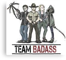 Team badass the walking dead Canvas Print