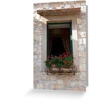 Vineyard Window Greeting Card