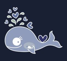 Whimsical Cute Indigo Purple Pregnant Whale Kids Clothes