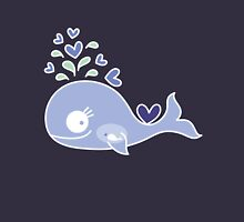Whimsical Cute Indigo Purple Pregnant Mommy Whale Womens Fitted T-Shirt