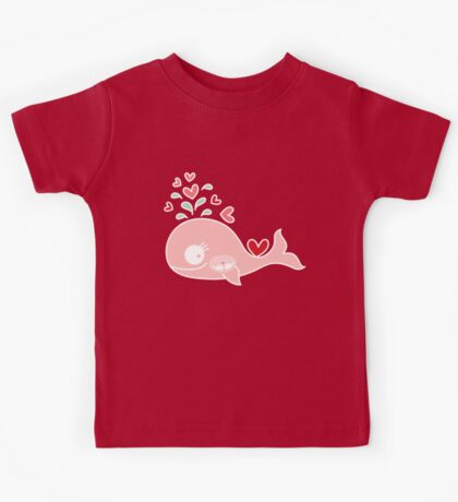 Whimsical Cute Twins Baby Pink Pregnant Mommy Whale Kids Tee