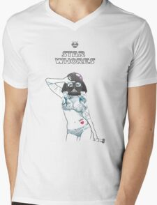 darth girl Mens V-Neck T-Shirt