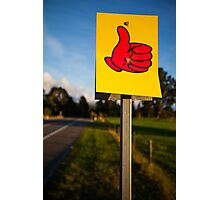 Thumbs Up! Photographic Print
