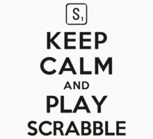 Keep Calm and Play Scrabble (Alternative white) by Yiannis  Telemachou