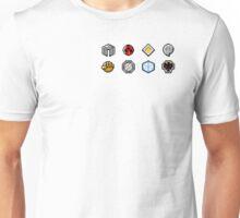Johto Gym Badges (Pixel) Unisex T-Shirt