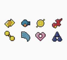 Hoenn Gym Badges (Pixel) Kids Tee