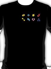 Hoenn Gym Badges (Pixel) T-Shirt