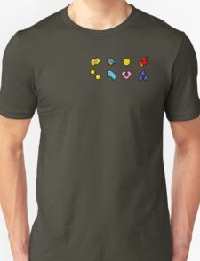 Hoenn Gym Badges (Pixel) T-Shirt