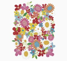 Spring Flower Power Kids Tee