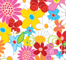 Spring Flower Power Sticker