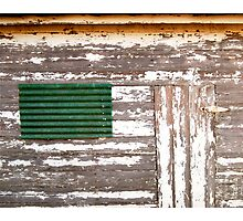 Green Tile and Door Photographic Print