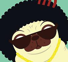 Pug in bling by Scott Weston