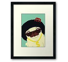 Pug in bling Framed Print