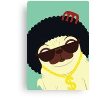 Pug in bling Canvas Print