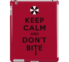 Keep calm and don´t bite iPad Case/Skin