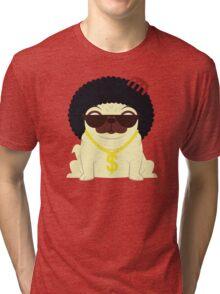 Pug in bling Tri-blend T-Shirt