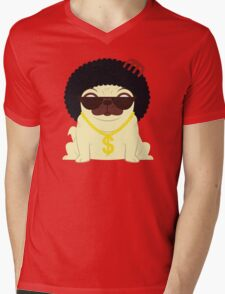 Pug in bling Mens V-Neck T-Shirt