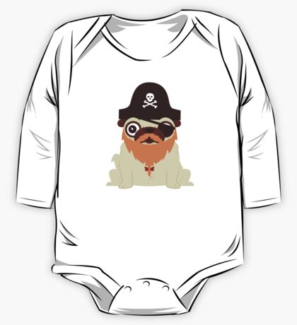Pug in a crew One Piece - Long Sleeve