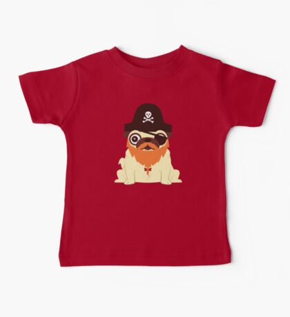 Pug in a crew Baby Tee