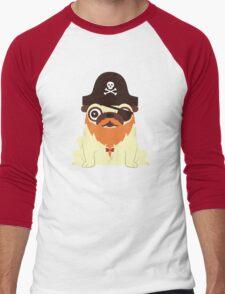 Pug in a crew Men's Baseball ¾ T-Shirt
