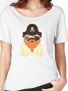 Pug in a crew Women's Relaxed Fit T-Shirt