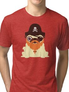 Pug in a crew Tri-blend T-Shirt