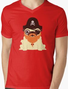 Pug in a crew Mens V-Neck T-Shirt