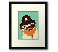 Pug in a crew Framed Print