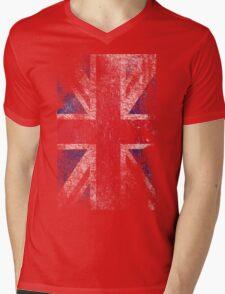 Union Jack - Flag Great Britain - Vintage Look Mens V-Neck T-Shirt