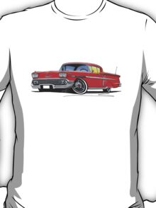 Chevrolet Bel Air Impala (1958) Red T-Shirt