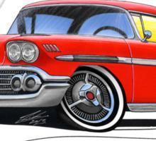 Chevrolet Bel Air Impala (1958) Red Sticker