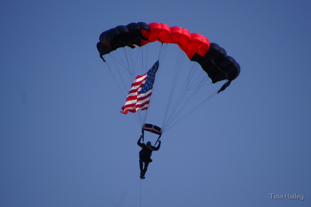 American Flag Sky Diver by Tina Hailey
