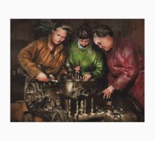 Car Mechanic - In a mothers care 1900 Baby Tee