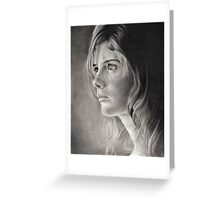 Girl Portrait Greeting Card