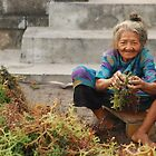 Joyfully Working on Seaweeds on Nusa Penida by ladyogaga