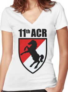 11th ACR Women's Fitted V-Neck T-Shirt