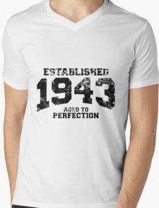 Established 1943 - Aged to Perfection Mens V-Neck T-Shirt