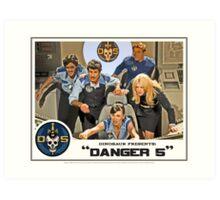 "Danger 5 Lobby Card #3 - ""In the balance"" Art Print"